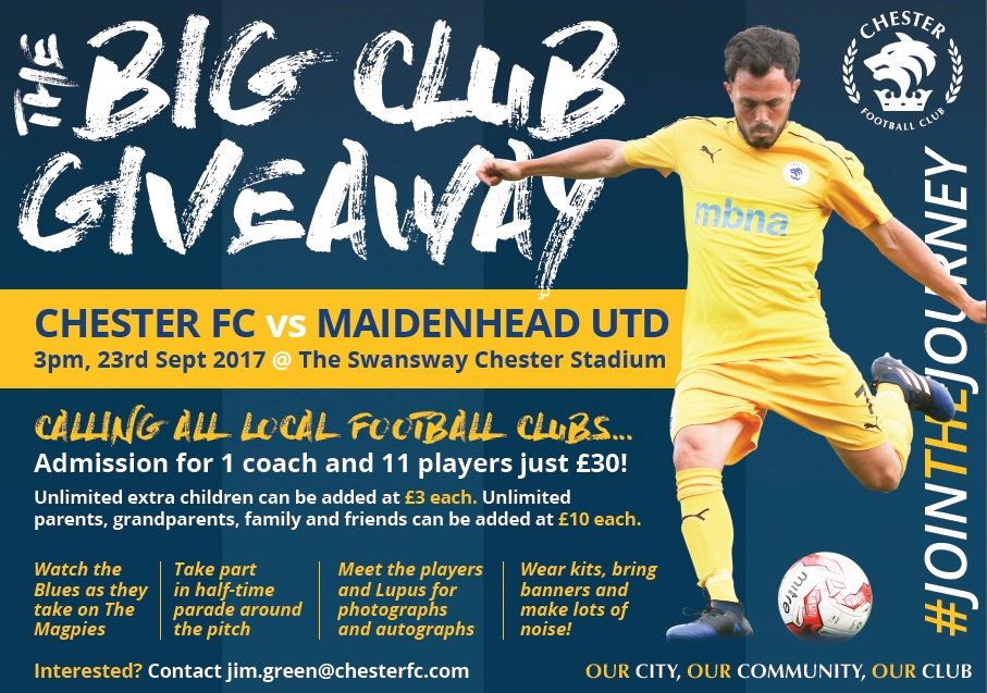 Chester Football Club – Official Website » The Big Club Giveaway