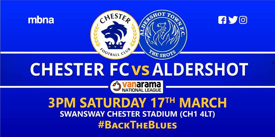Chester Football Club Official Website Preview Chester V Aldershot