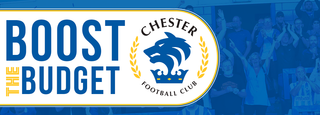 Chester FC fundraising - Boost the Budget